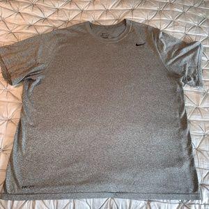 Nike Men's Dri-fit Grey T-shirt XXL